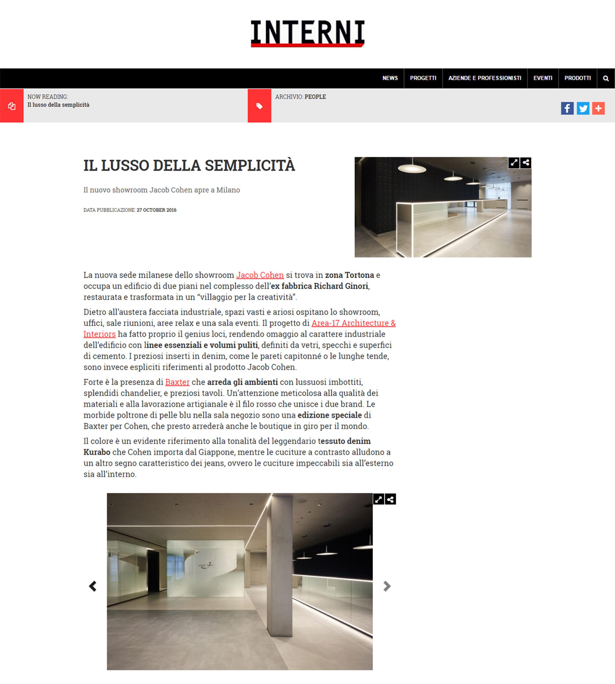 hot sale online eafee 90282 Jacob Cohen Milan Showroom on Interni Magazine | Area-17 ...