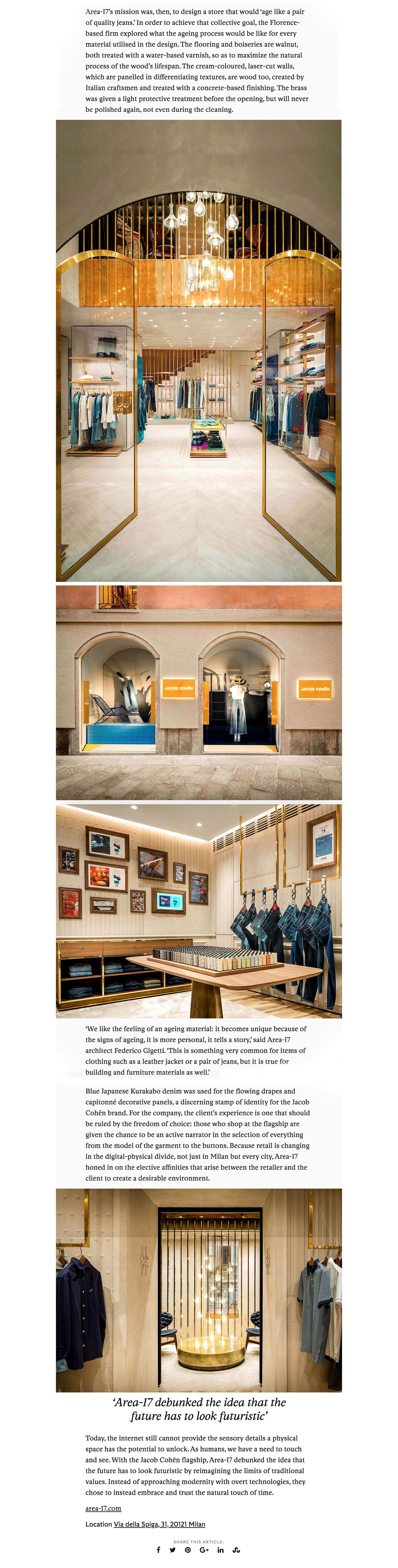 timeless design 3aeaa 356ca Jacob Cöhen Flagship Milan on Frame Web | Area-17 ...