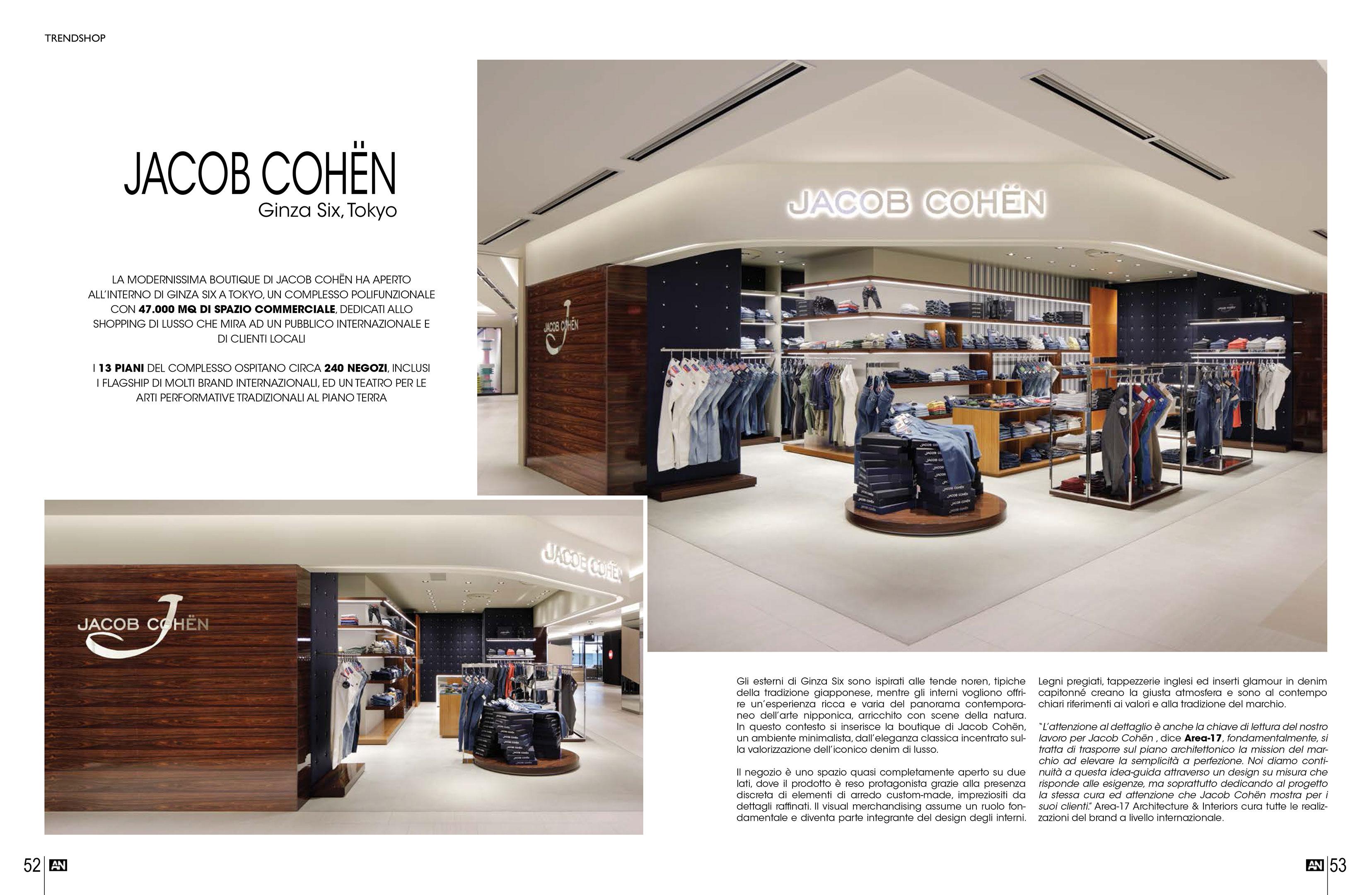 Jacob cohen tokyo on an shopfitting magazine area 17 for Arreda negozi shop