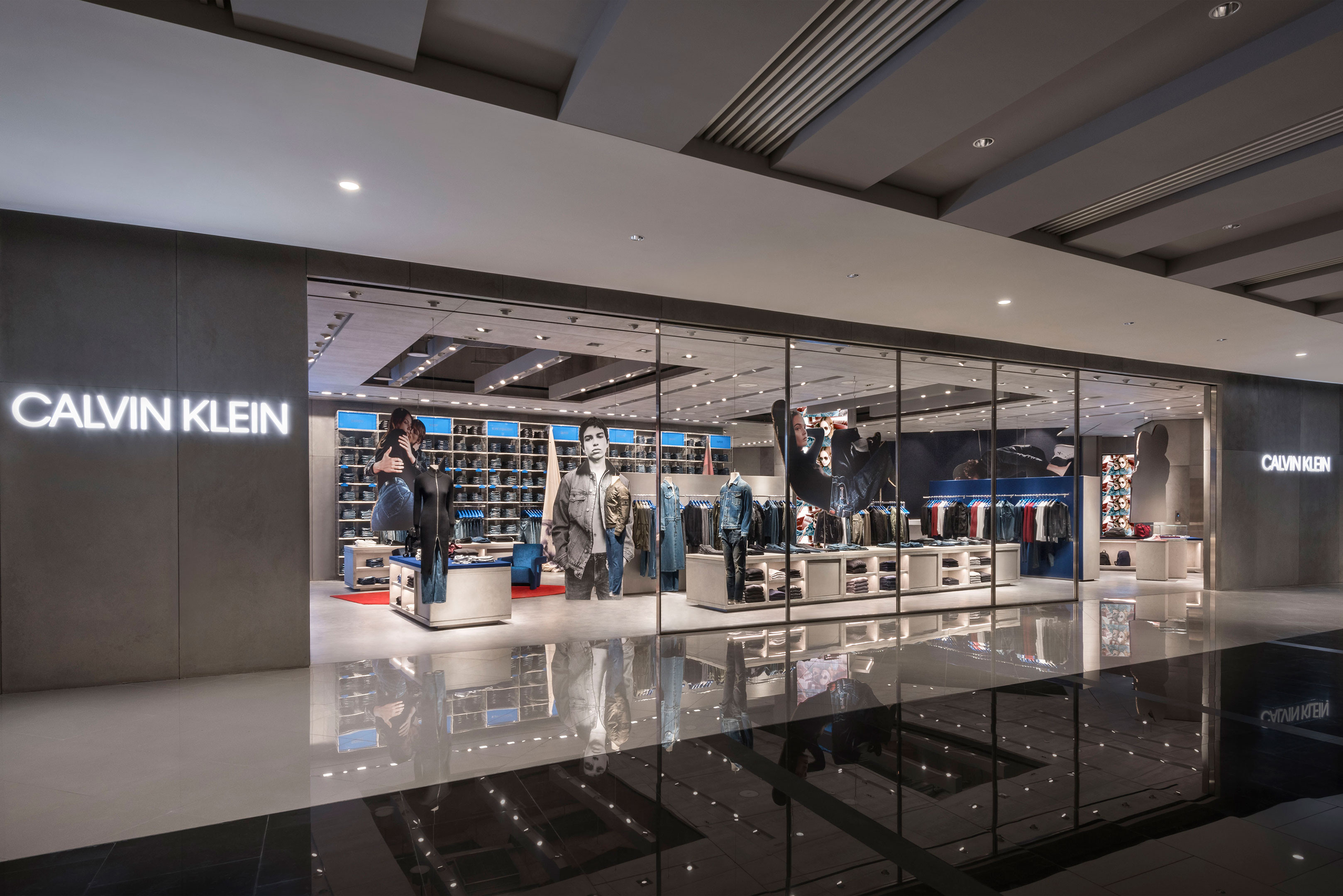 calvin klein lifestyle store area 17 architecture and interiors. Black Bedroom Furniture Sets. Home Design Ideas